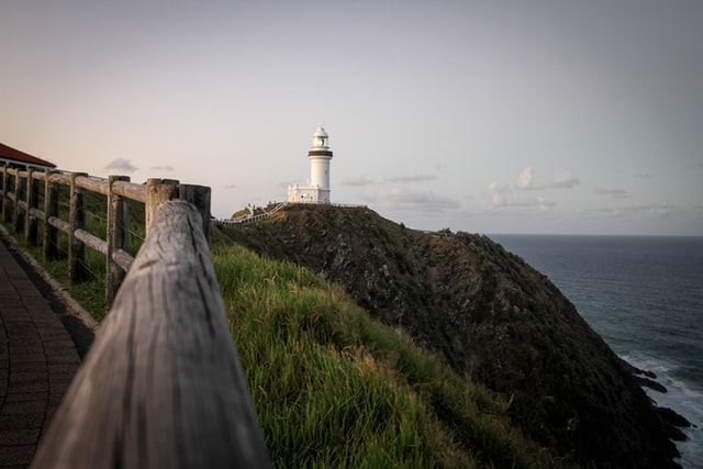 Byron Bay Lighthouse seen during Byron Bay guided tour