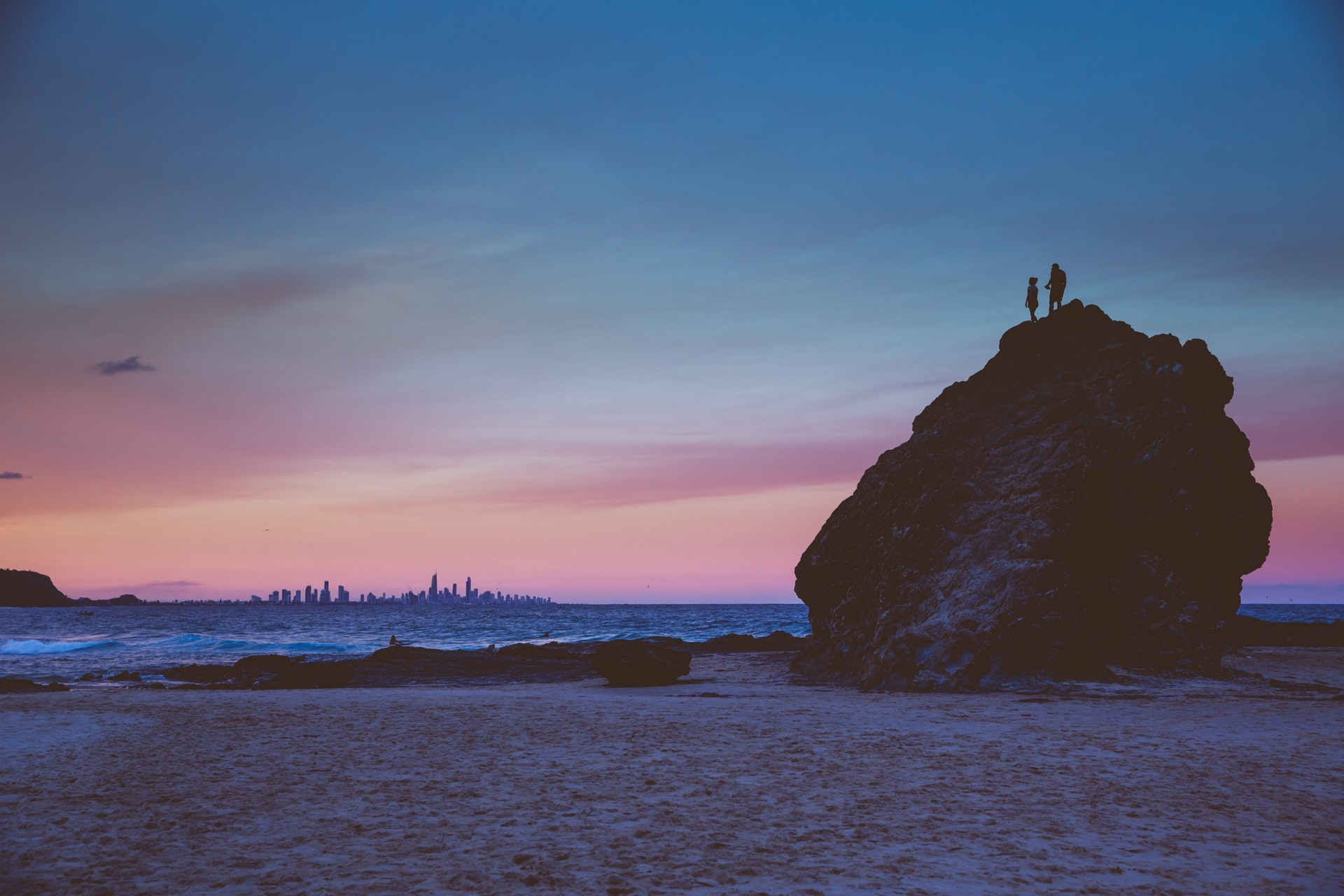 Gold Coast Beach Currumbin Rock