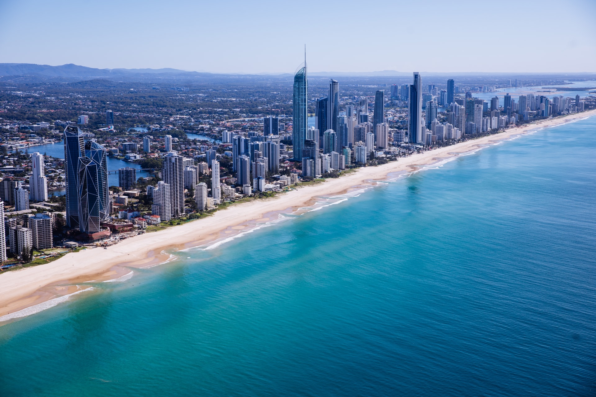 Aerial View Surfer Paradise Gold Coast